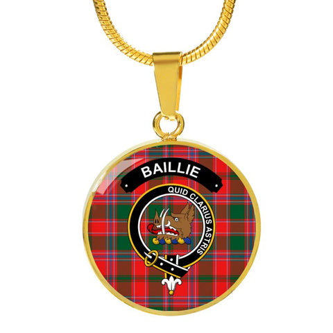 Baillie Clan Tartan Golden Necklace And Bangle A9 Luxury Necklace (Gold) Jewelries