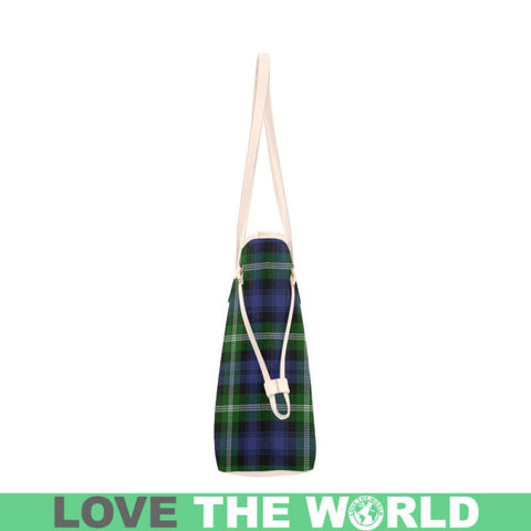 Baillie Modern Tartan Clan Badge Clover Canvas Tote Bag Ha9 Bags