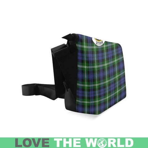 Image of Baillie Modern Tartan Clan Badge Crossbody Bag C20 Bags