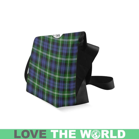 Baillie Modern Tartan Clan Badge Crossbody Bag C20 Bags