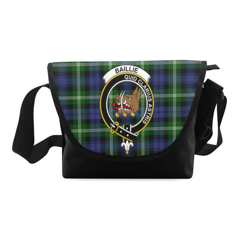BAILLIE MODERN TARTAN CLAN BADGE CROSSBODY BAG NN5