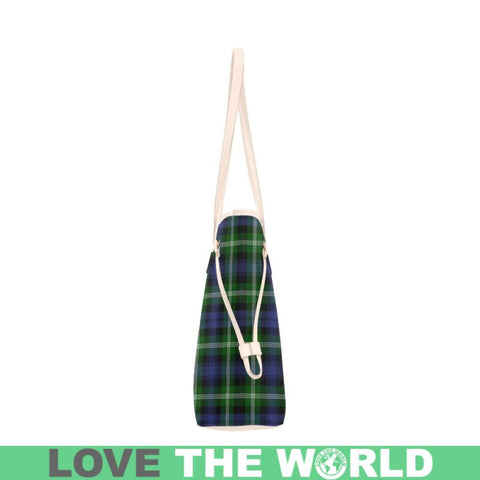 Image of Baillie Modern Tartan Clover Canvas Tote Bag S1 Bags