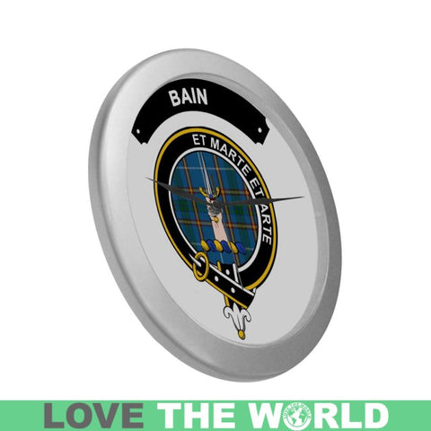 Image of Bain Clan Tartan Wall Clock  - Love The World