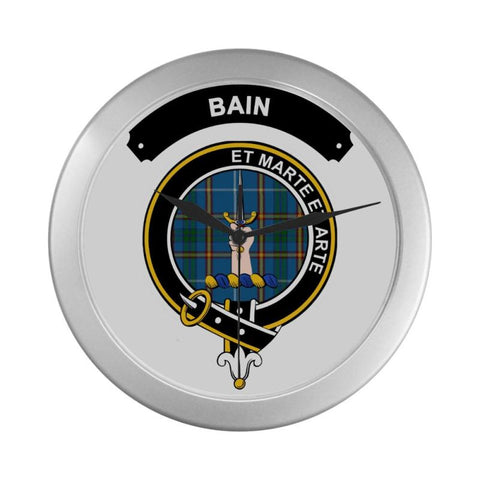 Bain Clan Tartan Wall Clock  - Love The World