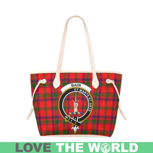 Bain Tartan Handbag - Tartan Clan Badge Large Leather Tote Bag Nn5