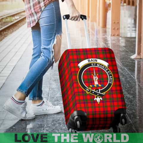 Image of Bain Tartan Clan Badge Luggage Cover Hj4 Covers