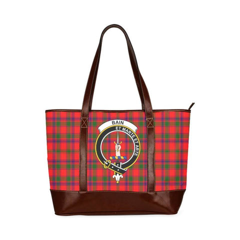 Bain Tartan Clan Badge Tote Handbag Hj4 Handbags