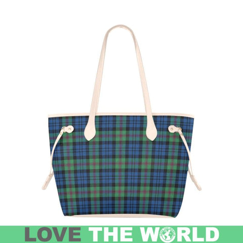 Baird Ancient Tartan Clover Canvas Tote Bag S1 Bags