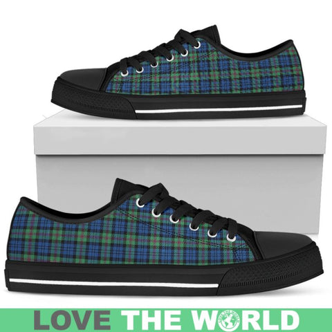 Baird Ancient Tartan Low Top Canvas Shoes Womens Low Top - Black 1 / Us5.5 (Eu36)