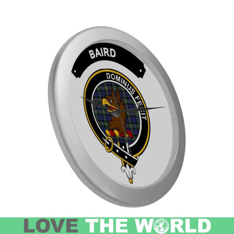 Baird Clan Tartan Wall Clock  - Love The World