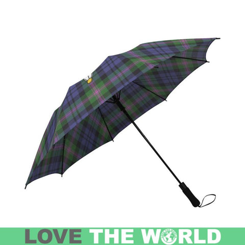 Baird Modern Tartan Clan Badge Semi-Automatic Foldable Umbrella R1 Semi Umbrellas