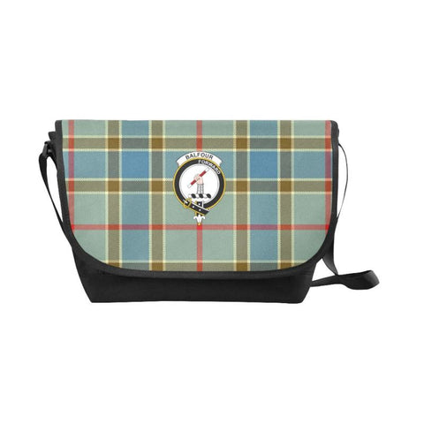 Balfour Blue Tartan Clan Badge Messenger Bag - Sd1 Bags