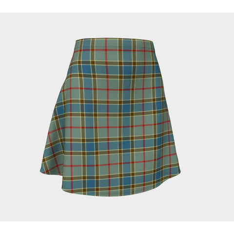 Tartan Skirt - Balfour Blue Women Flared Skirt A9 |Clothing| 1sttheworld