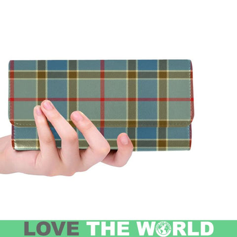 Balfour Blue Tartan Trifold Wallet V4 One Size / Balfour Blue Black Womens Trifold Wallet Wallets