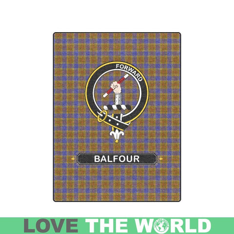 Image of Balfour Clan Tartan Blanket Dn1 One Size / 40X50 Blankets