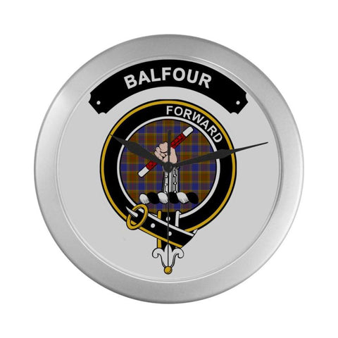 Image of Balfour Clan Tartan Wall Clock  - Love The World