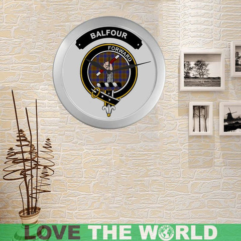 Balfour Clan Tartan Wall Clock  - Love The World