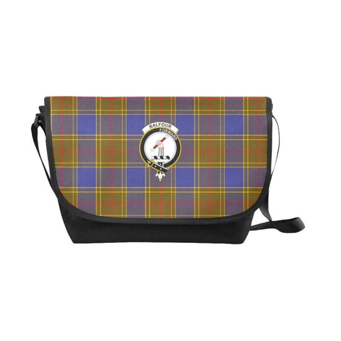 Image of Balfour Modern Tartan Clan Badge Messenger Bag - Sd1 Bags