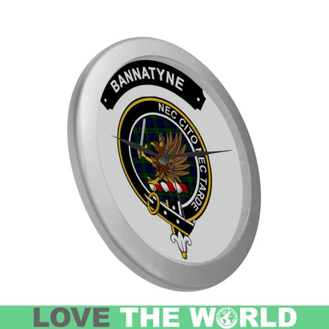 Image of Bannatyne Clan Tartan Wall Clock  - Love The World