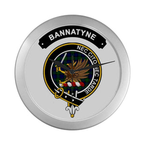 Bannatyne Clan Tartan Wall Clock  - Love The World
