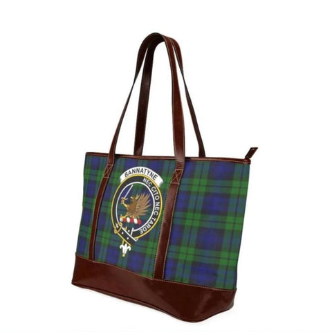 Bannatyne Tartan Clan Badge Tote Handbag Hj4 Handbags