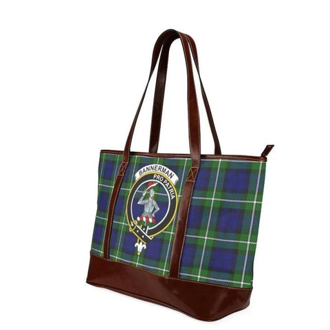 Bannerman Tartan Clan Badge Tote Handbag Hj4 Handbags