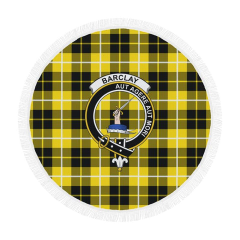 Image of Barclay Dress Modern Clan Badge Tartan Circular Shawl C11 Shawls