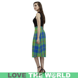Barclay Hunting Ancient Tartan Skirt - Aoede Crepe Skirt Type K7