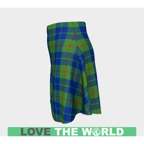 Tartan Skirt - Barclay Hunting Ancient Women Flared Skirt A9 |Clothing| 1sttheworld