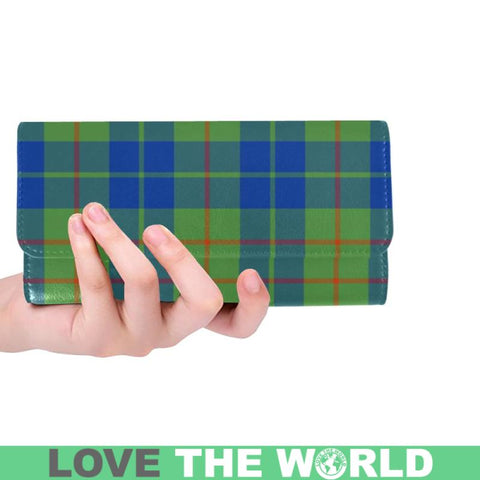 Barclay Hunting Ancient Tartan Trifold Wallet V4 One Size / Barclay Hunting Ancient Black Womens