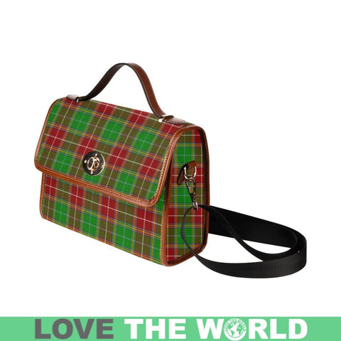 Image of Baxtar Modern Tartan Canvas Bag | Waterproof Bag | Scottish Bag