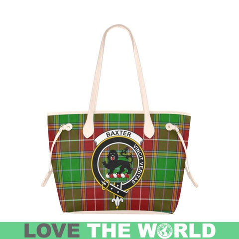 Image of Baxter Modern Tartan Clan Badge Clover Canvas Tote Bag Ha9 Bags