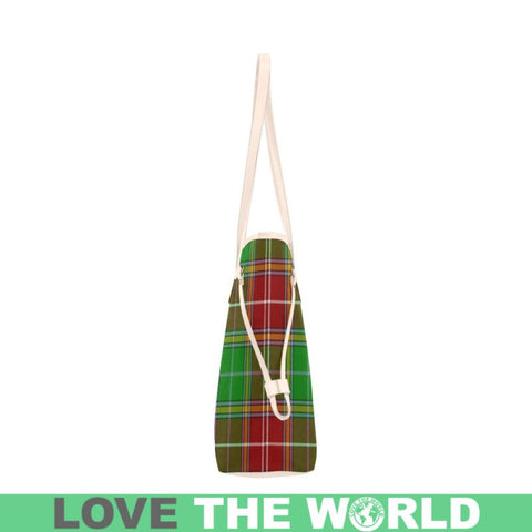 Baxter Modern Tartan Clan Badge Clover Canvas Tote Bag Ha9 Bags