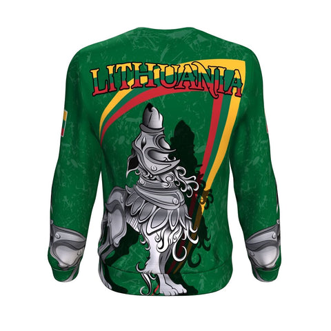 (Lietuva) Lithuania Sweatshirt - Lithuanian Iron Wolf A7