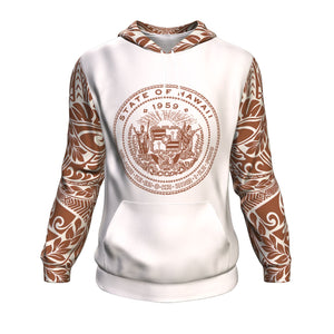 Hawaii Poly Tribal All Over Hoodie