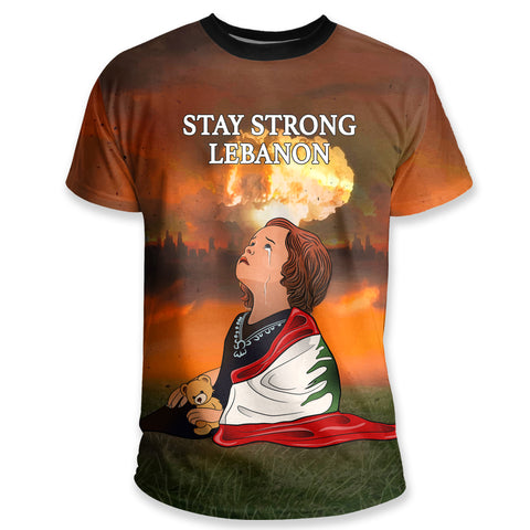 Image of Lebanon T Shirt, Stay Strong Beirut K5