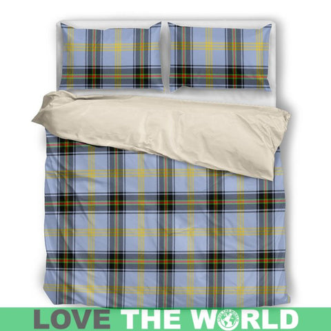Bell Of The Borders Tartan Bedding Set Nl25 Bedding Set - Black / Twin Sets