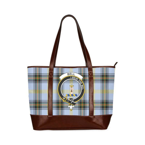 Bell Tartan Clan Badge Tote Handbag Hj4 Handbags