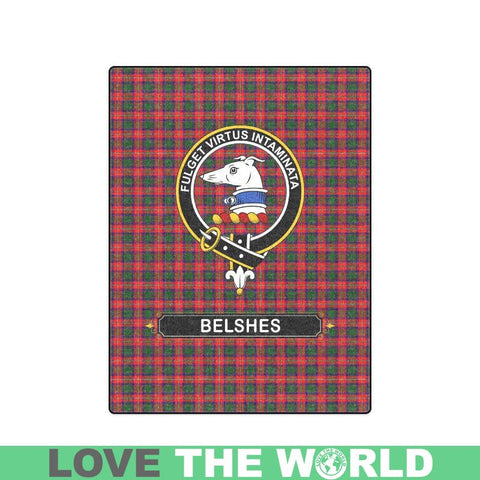 Belshes (Or Belsches) Clan Tartan Blanket Dn1 One Size / 40X50 Blankets