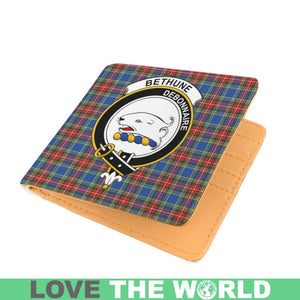 BETHUNE CLAN TARTAN MEN WALLET A3