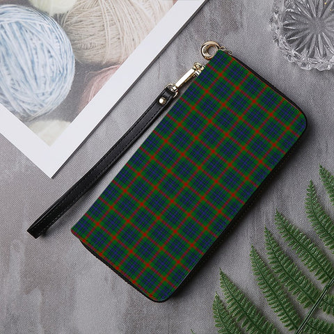 Image of AITON TARTAN ZIPPER WALLET HJ4
