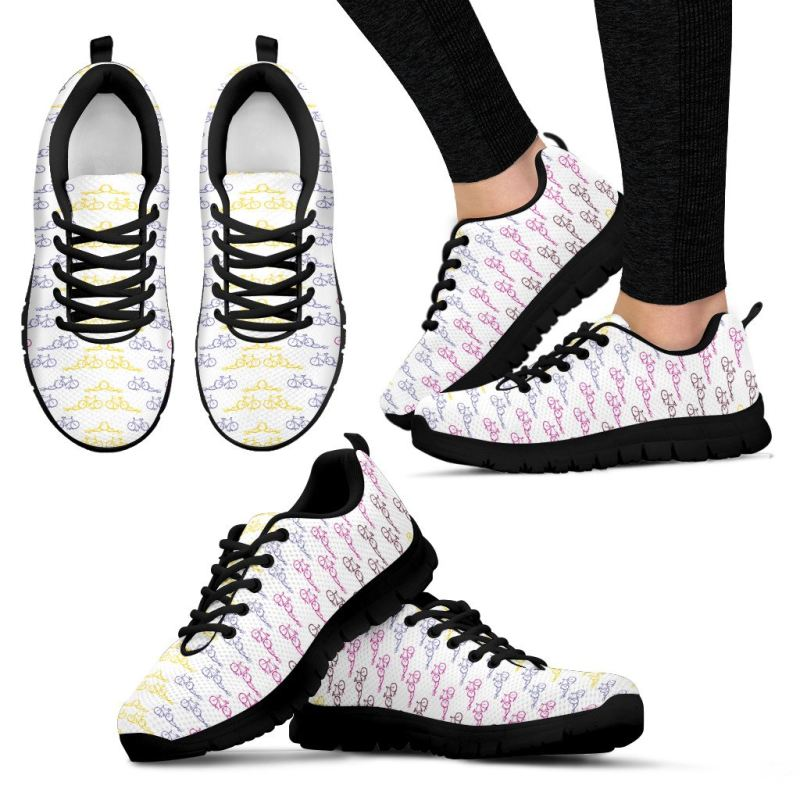 Bicycle Sneakers 05 Womens Sneakers - Black Bicycle / Us5 (Eu35)