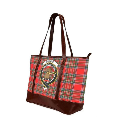 Binning Tartan Clan Badge Tote Handbag Hj4 Handbags