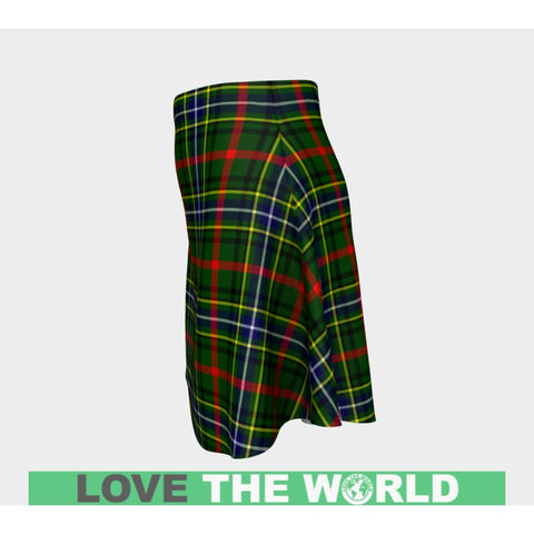 Tartan Skirt - Bisset Women Flared Skirt A9 |Clothing| 1sttheworld