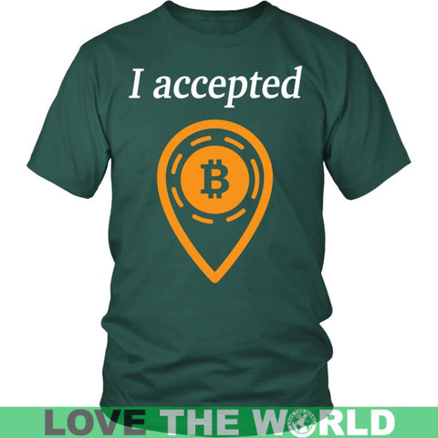Image of Bitcoin Accepted T-Shirts District Unisex Shirt / Royal Blue S