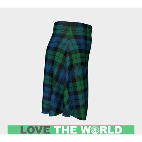 Tartan Skirt - Blackwatch Ancient Women Flared Skirt A9 |Clothing| 1sttheworld