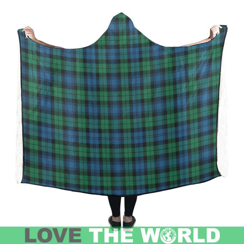 Blackwatch Ancient Tartan Hooded Blanket - Tn One Size / 60X50 Blankets