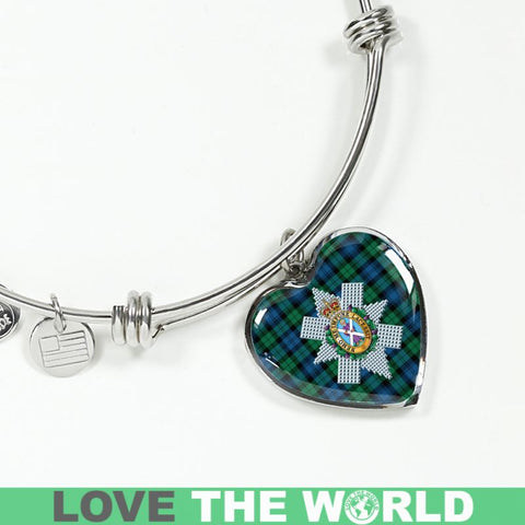 Image of Blackwatch Ancient Tartan Silver Bangle - Sd1 Jewelries