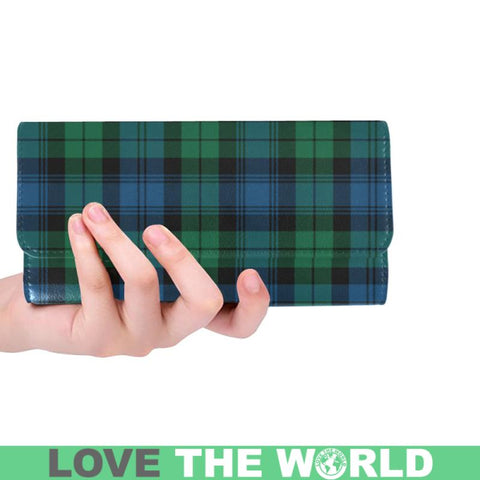 Blackwatch Ancient Tartan Trifold Wallet V4 One Size / Blackwatch Ancient Red Womens Trifold Wallet