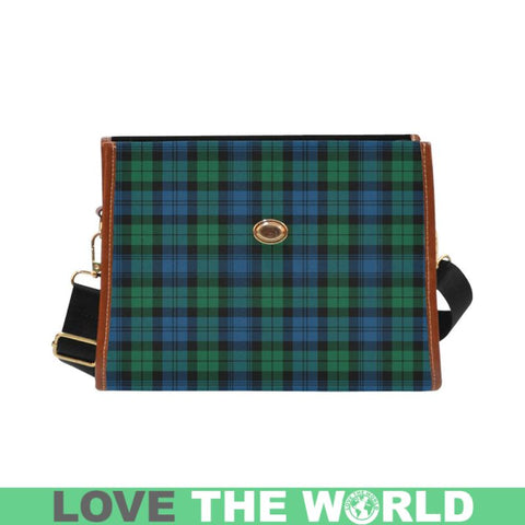 Image of Blackwatch Ancient Tartan Canvas Bag | Waterproof Bag | Scottish Bag